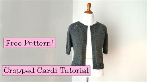 verypink knits cropped raglan cardi tutorial