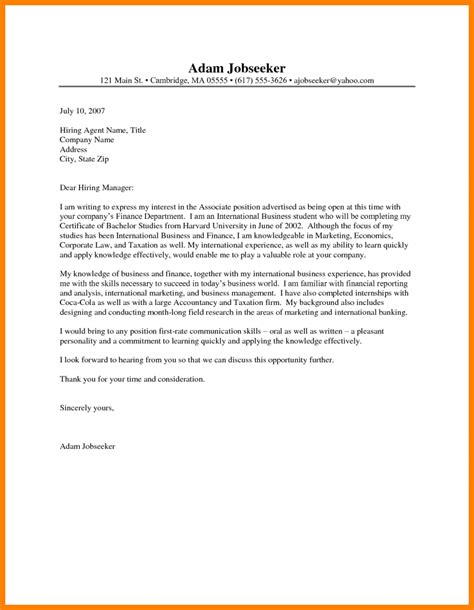 Cover Letter In 8 How To Write A Cover Letter For A Internship Farmer Resume