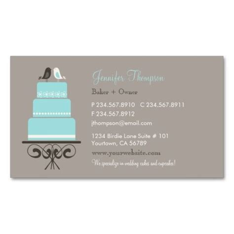 cake decorating business cards templates birds and cake business card templates bakery business