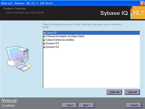 Sybase Developer by Sybase Iq 12 7 安装截图 爱程序网