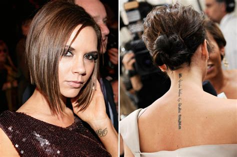 victoria beckham tattoo removal beckham is undergoing laser surgery to remove