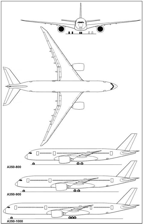 Schematic Floor Plan by Aerospaceweb Org Aircraft Museum Airbus A350 Xwb
