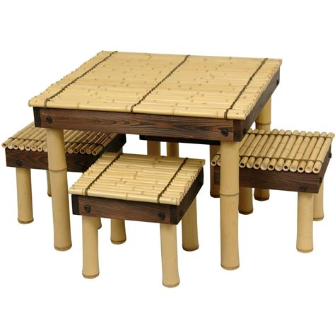 four stool coffee table bamboo coffee table w four stools home furniture