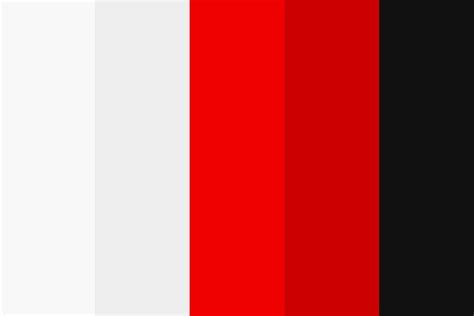 white black color palette