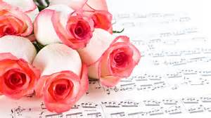 Hd rose and sheet music wallpaper rose flower images rose pictures
