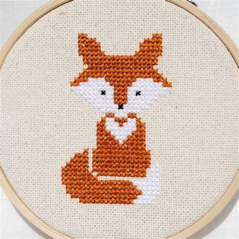 fox pattern pinterest fox cross stitch pattern pdf forest animals von