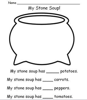Stone Soup Literacy And Math Activities Kids Stone