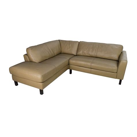 Lovely Sanford Sofa #2: Bloomingdales-leather-sectional-used.jpeg