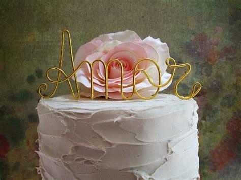 amor cake topper shabby chic wedding cake topper