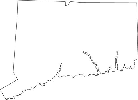 connecticut map coloring page image gallery outline of ct