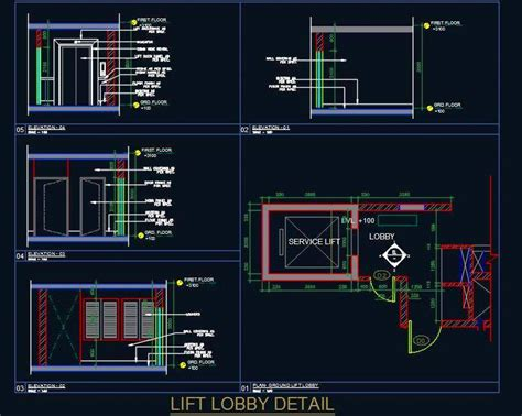 Floor Plan Elevation lift lobby elevation detail plan n design