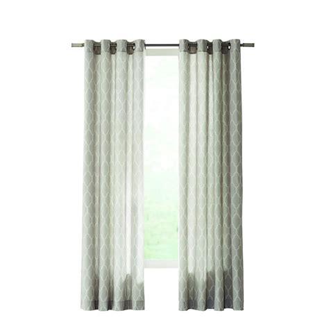 lattice curtain home decorators collection gray modern lattice curtain
