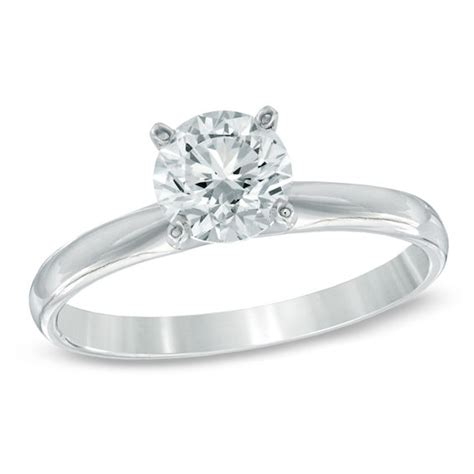 1 ct solitaire engagement ring in 14k white gold