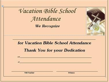 vacation certificate template vacation bible school 2014 reflections of a newbie