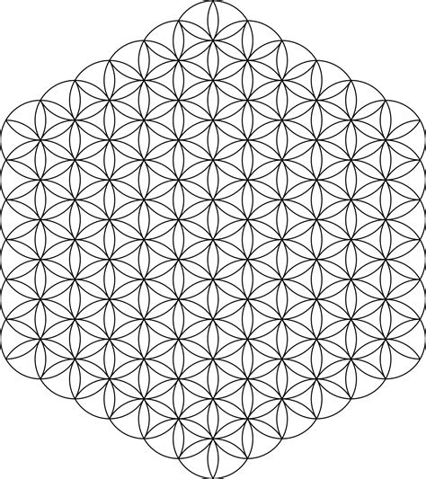 tattoo geometric png flower of life 91circles36arcs png 1 336 215 1 504 pixels