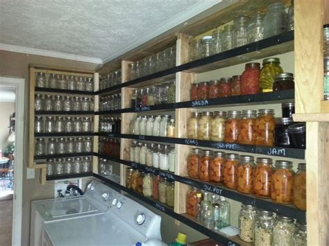 Average Shelf Of Canned Foods by Chalk Board Paint On Shelf Edges To Label Canned Foods