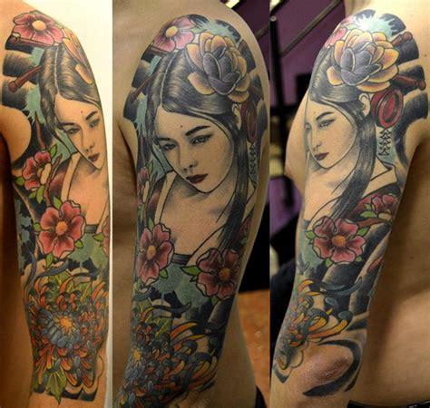 geisha tattoo no braço barcelona poker tattoo tatuajes online