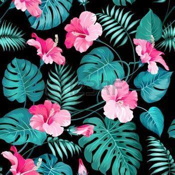 Dessin Fleur Tropicale Des Fleurs Et Des Palmiers De La