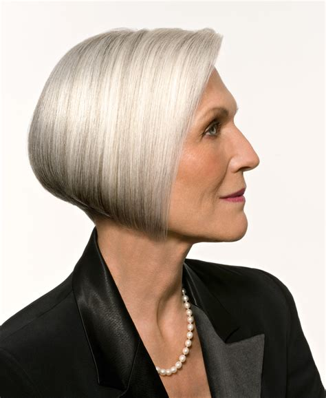 picture of precision grey hair haircut philip kingsley france avril 2011