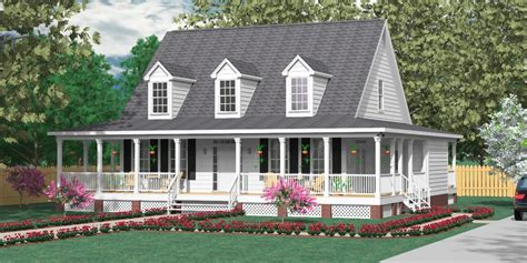 Small Farmhouse Plans Wrap Around Porch by Southern Heritage Home Designs House Plan 2051 A The