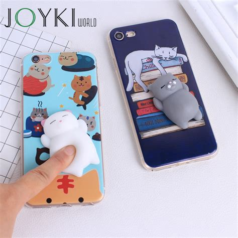 Iphone 5 5s Se 3d Silicone Soft Keren Armor Bumper Cover Sarung lovely 3d squishy cat silicon cases for