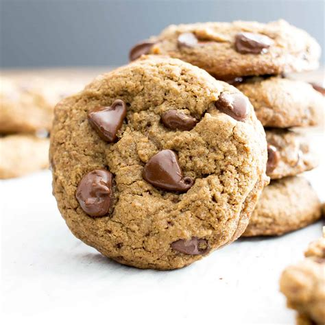 vegan chocolate chip cookies recipe gluten free dairy free refined sugar free beaming baker
