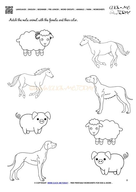 printable animal worksheets farm animals worksheet activity sheet 8