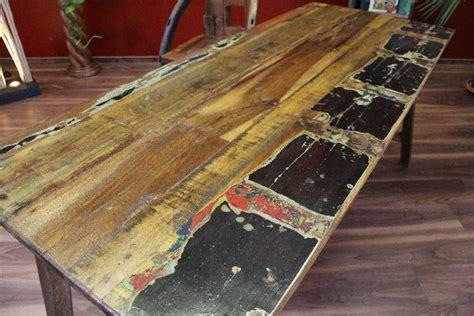 Holz Schreibtisch Höhenverstellbar by Esstisch Recycelt Teak Holz 188x78x75 Massiv Antik
