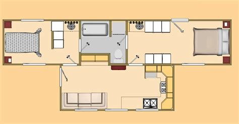 Box House Plans by Container Home Floor Plans 480 Sq Ft Shipping