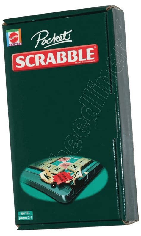 scrabble travel set mattel scrabble pocket travel size magnetic new ebay