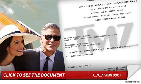 George Clooney And Say It Isnt So by George Clooney Italian Wedding And Binding Tmz