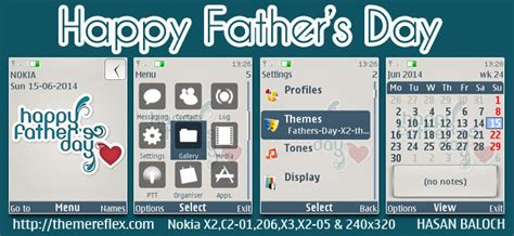themes for nokia c2 01 with media player skin special series happy father s day themes for nokia 320