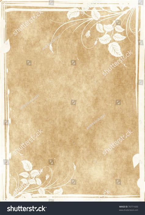 grunge floral parchment frame royalty free stock photos image 8762458 floral grunge frame on parchment paper with floral pattern stock photo 70771600