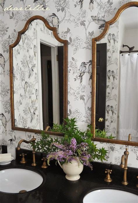 beautiful brass mirrors faucets   bathroom paired