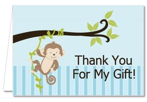 Monkey Baby Shower Thank You Cards by Baby Shower Thank You Cards Monkey Boy Thank You Notes