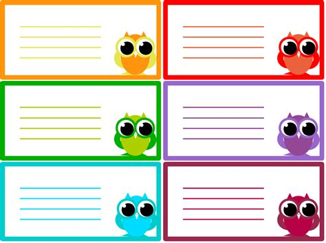 free classroom picture card templates printable a beginner craft journal my free printables owl