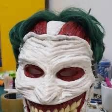 free printable joker mask 3d printable joker mask by stefanos anagnostopoulos