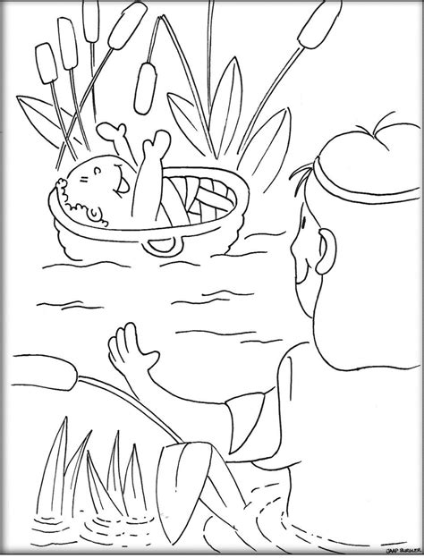 coloring pages of baby moses and miriam baby moses coloring page coloring home