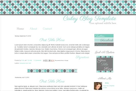 layout blog template cute premade blog template wide layout flower teal bd