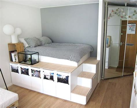 ikea bedroom storage best 25 ikea platform bed ideas on diy bed frame bed ideas and diy spare room ideas