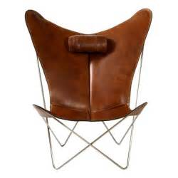 Leather Butterfly Chair by Bkf Prima Butterfly Chair In Leather At 1stdibs