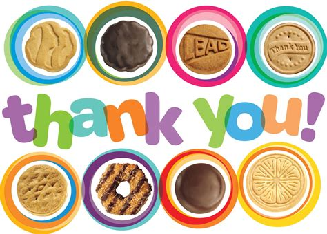 buy clipart thank you cards scout cookies clip clipart free