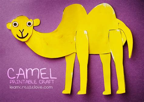 camel crafts for printable camel craft