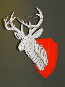 3d Cardboard Deer Template 3d cardboard duct deer trophy with template