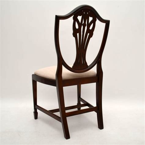 Antique Style Dining Chairs Set Of 8 Antique Adam Style Mahogany Dining Chairs Antiques Atlas