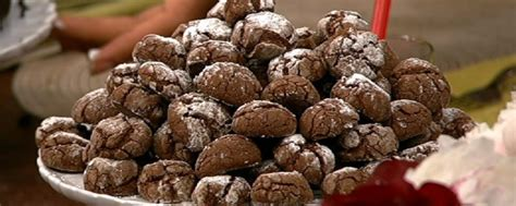 printable recipes from the chew chocolate crinkle cookies recipe by carla hall the chew