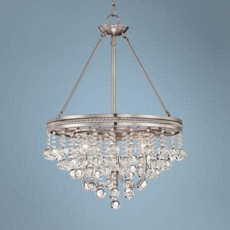brushed nickel kitchen table brushed nickel 19 quot wide chandelier