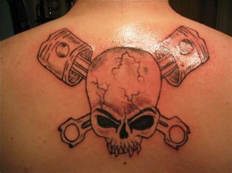 skull and piston tattoos skull and pistons tattoo