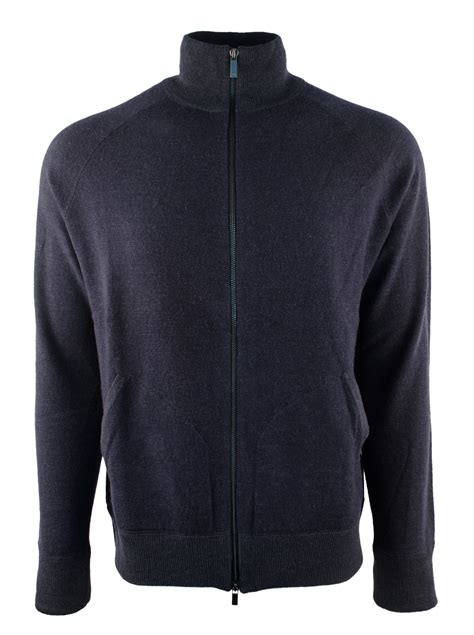 polo ralph s merino wool zip mock neck