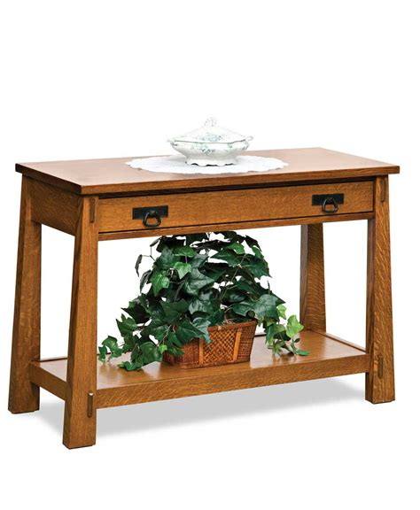 sofa table with drawer modesto open sofa table with drawer amish direct furniture